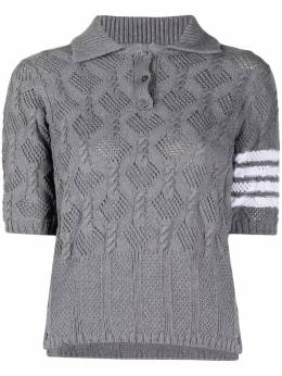 Thom Browne open-knit polo shirt FKP057AY3003