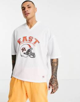 "Белая oversized-футболка с принтом ""East Mississipi"" ASOS Design-Белый 11897217"